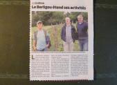 LE BERLIGOU ETEND SES ACTIVITES (Presse-Océan 19/05/16)