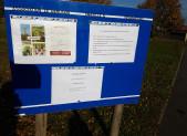 POSE D'UNE PANCARTE D'INFORMATION SUR LA NOUVELLE PARCELLE DU BERLIGOU (15/11/17)