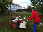 TRAVAUX DE PREPARATION DU SOL AVANT PLANTATION SUR LA FUTURE PARCELLE DU BERLIGOUT 29/10/17