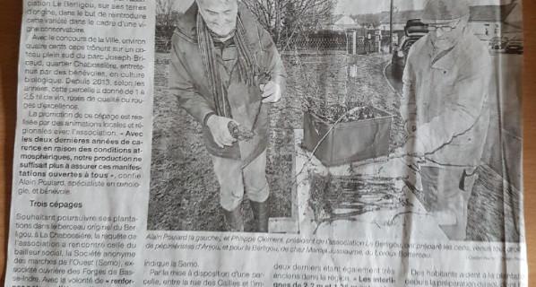LE BERLIGOU DE NOUVEAU EN TERRE CREE DU LIEN Ouest France 04/01/18